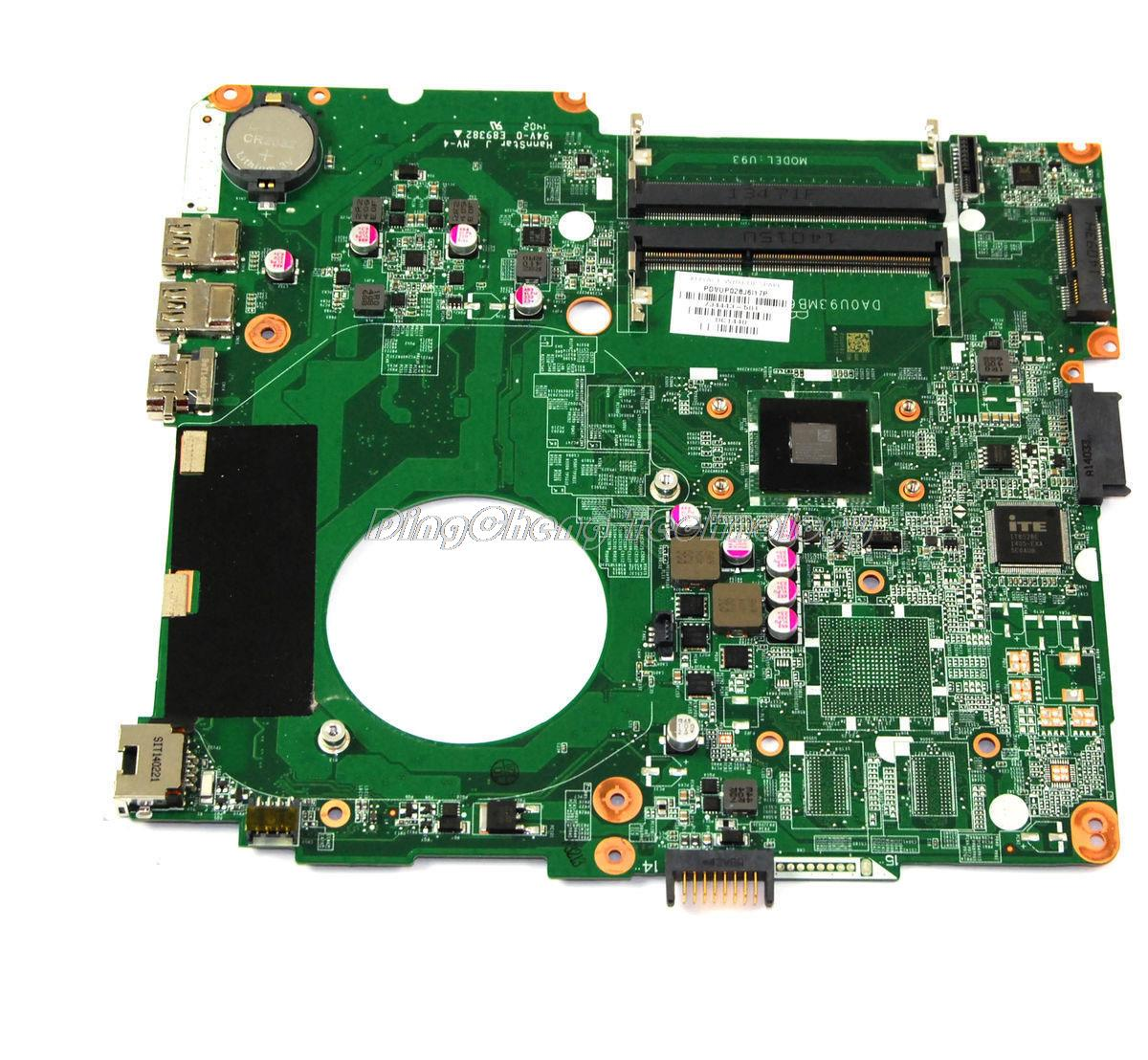 SHELI laptop Motherboard For hp 14-N 734443-501 734443-001 da0u93mb6d0 A4-5000 CPU integrated graphics card 100% fully tested sheli laptop motherboard for hp pavilion dv6 7000 682169 001 48 4st10 021 ddr3 gt630m 1gb non integrated graphics card
