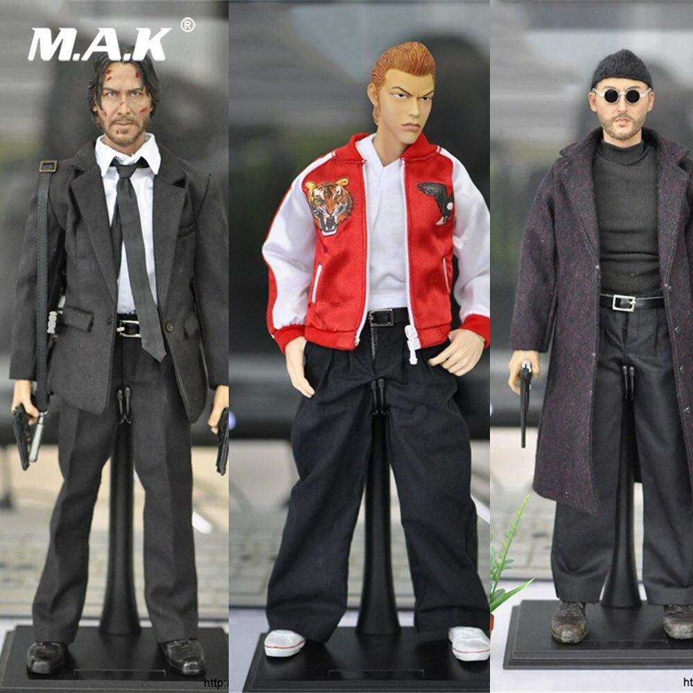 1/6 풀 세트 일본 애니메이션 액션 피규어 워킹 데드 킬 신/크로우/킬러 jean reno 전체 박스 12 ''collectible figure model-에서액션 & 장난감 숫자부터 완구 & 취미 의  그룹 1