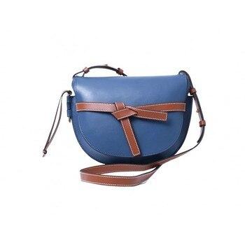 Bolso para SILLÍN con lazo Multicolor, bolso de cuero de moda para mujer, estilo japonés, nuevo diseño, bandolera, Bolso pequeño de bandolera para verano, seis colores