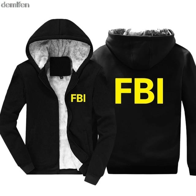 New FBI Academy Quantico Virginia Hoodie Men Cotton Coat Keep Warm Winter Jacket  Sweatshirt Hooded-in Hoodies   Sweatshirts from Men s Clothing on ... b7bc7703e0