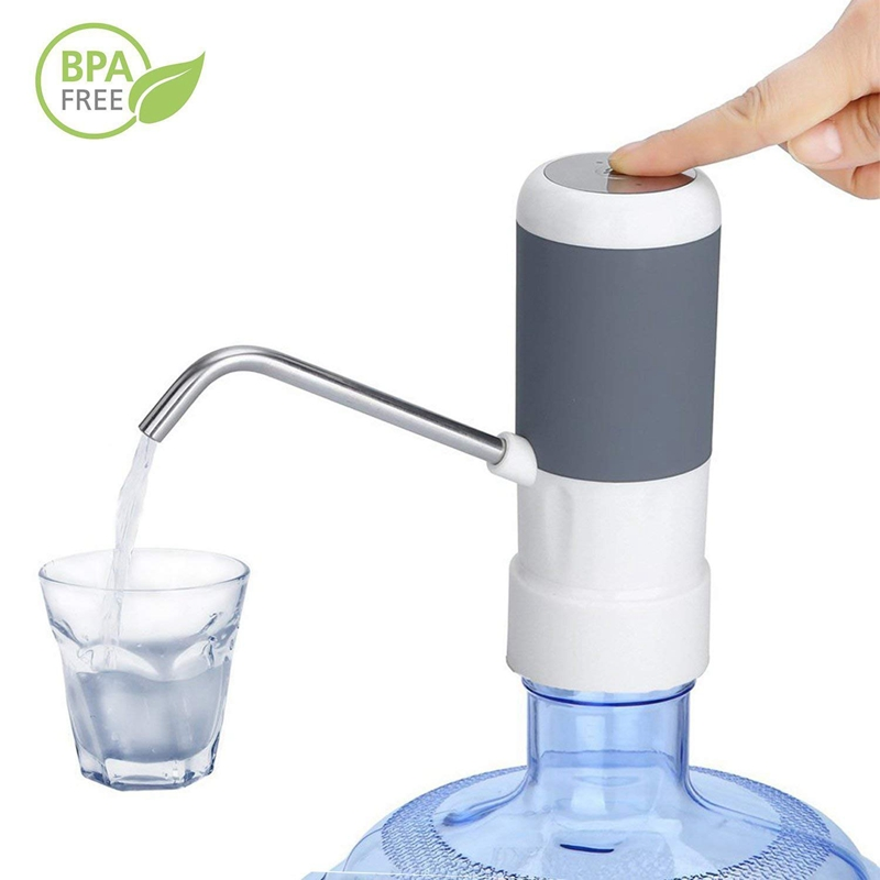 Przenośna bezprzewodowa elektryczna pompa wody pitnej dozownik do butelki 5 galonów z akumulatorem i kabel do ładowarki Usb na