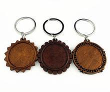 5 шт круглые деревянные подставки для ключей 30 мм