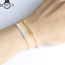 GORGEOUS TALE Tredny Gold Color Charm Geometric Bar Bracelet Women i Love You The To Moon Link Chain New Arrival 2017