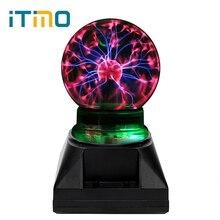iTimo Creative Plasma Light Electrostatic Induction Magic Crystal Plasma Ball Sphere Lamp Gift For New Years Novelty Lighting