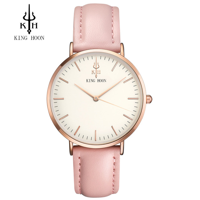 Ladies Fashion Quartz Watch Women Leather Casual Dress Women's Watches Rose Gold