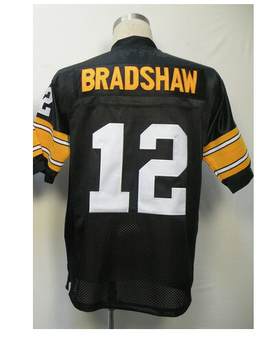 Buy #12 Terry Bradshaw Jersey from manufactures, Really cheap Football Jersey,Sport Jersey quilts with sleeve,Size M, L, XL,XXL