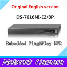 HIkvision NVR DS 7608NI E2 8P 8CH POE NVR for HD IP Camera 5 Megapixels Recording