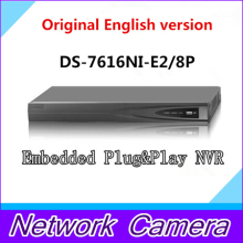 NVR DS-7616NI-SE/P PoE NVR 16 Channel Economic NVR CCTV Network Video Recorder Free shipping