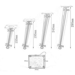 Image 4 - 4Pcs/Set 15/20/25/30CM Furniture Cabinet Metal Legs Round Tapered Leg DIY Furnitur Sofa Table Bed Shoe Cabinet Desk Legs