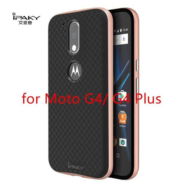 Para Motorola Moto Ipaky G4 Tampa Do Caso Mais Originais Dupla camada para Moto G4 Capa de Silicone PC Híbrido Armadura Protetora Shell