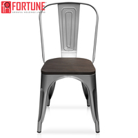 High Quality New Restaurant Chair Wood Metal Dining Chair Silver And Bronze Color Furniture Dining Chairs Ship In USA Wholesale