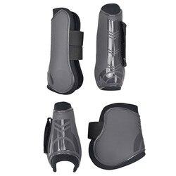 4 шт., мягкие леггинсы из искусственной кожи для верховой езды, верховая езда, верховая езда, защитная обувь для тренировок, снаряжение для ве...
