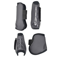 4 PCS Soft PU Leather Horse Riding Equestrian Equipment Horse Racing Legging Protector Excercise Boots Equipment
