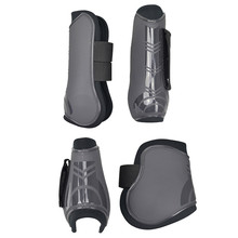4 PCS Soft PU Leather Horse Riding Equestrian Equipment racing Legging Protector Exercise boots  Bracers
