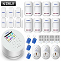 KERUI W2 2,4 pulgadas TFT pantalla de Color sistemas de alarma antirrobo seguridad inicio traje WiFi GSM PSTN Smart APP Control Alarme residenci