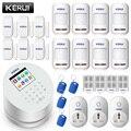 KERUI W2 2,4 zoll TFT Farbe Display Einbrecher Alarm Alarmanlagen Sicherheits Hause Anzug WiFi GSM PSTN Smart APP Control Alarme residenci