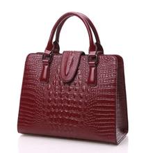 ZHIERNA 2017 Hohe Qualität Krokodil Echtem Leder Taschen Designer-handtaschen Damen Tote Umhängetaschen Frauen Messenger Bags