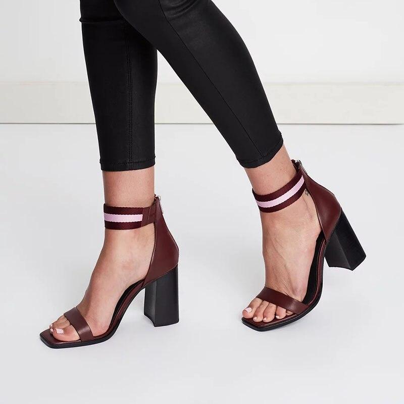 Tacones Sólido Las Super Fiesta Sandalias Boda Alta Ty01 2019 Moda Adulto Señoras La Tobillo Zapatos Cremallera Cuadrados Mujer De Nancyjayjii wIqznqOP