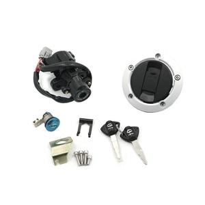 Image 1 - Interruptor de bloqueo de ignición para Suzuki GSXR600 GSXR750 GSX R GSXR 2011 2015, tapa de tanque de combustible, Juego de 2 llaves