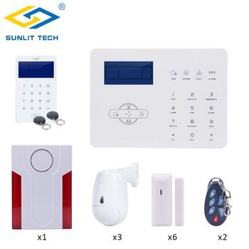 Фокус Беспроводной GSM PSTN сигнализации системы для дома Smart охранной Wi Fi Pet Иммунитет Pir и двери магнит сенсор со стробоскопом сирена