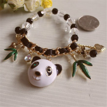 Europe United States foreign trade jewelry wholesale fashion new enamel panda clover elastic madam bracelet