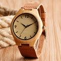 Fashion Modern Wrist Watch Wood Bamboo Natrue Original Wooden Watches Simple Numbers Quartz Watch Men Women Gift