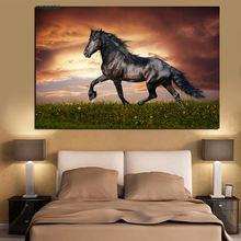 Рисунок в стиле поп арт лошади бегущие животные абстрактная