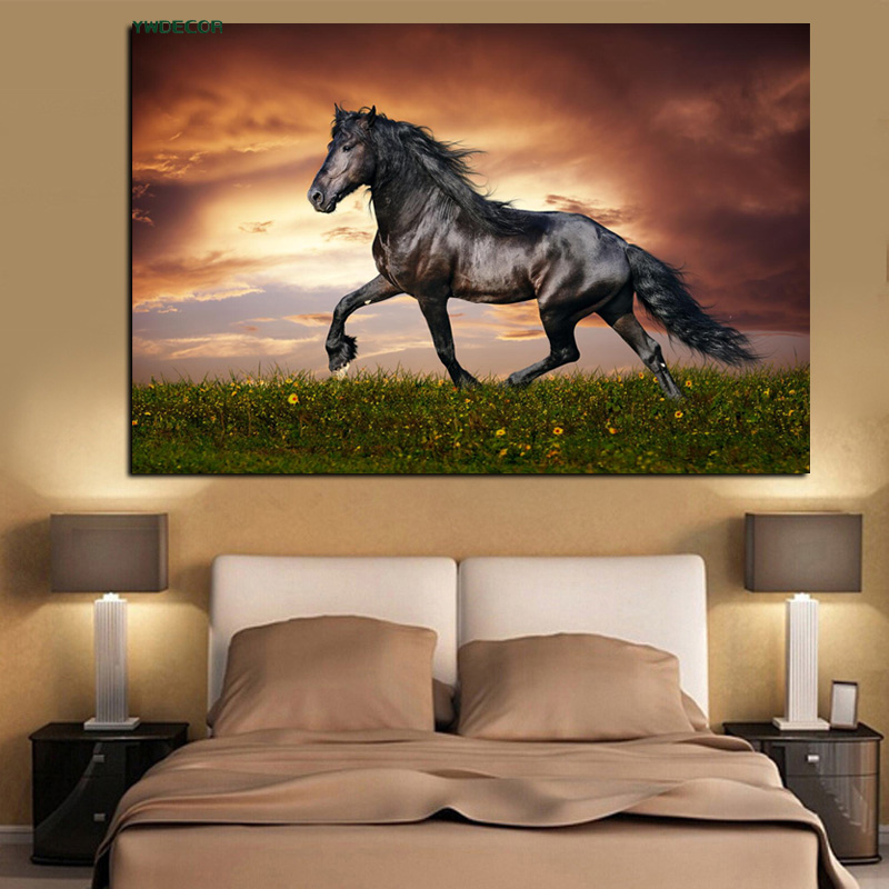 Pop Art Print Horses Running Animals Abstract Oil Painting ...