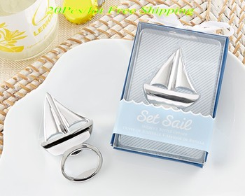 (20 Pieces/lot) Nautical themed Wedding and Event souvenirs of Sail boat Bottle Opener wedding and Party gift and Beach favors