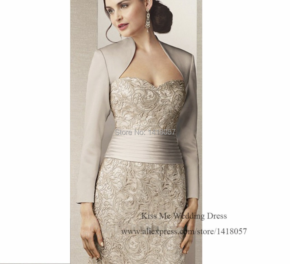 2015 New Arrival Silver Mother of the Bride Dresses with Jacket Lace Long Evening Dress Vestido de Renda Groom Mother Pant Suits 2