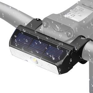 Para xiaomi scooter luzes de bicicleta inteligente carregamento solar luzes led noite equitação luzes de segurança indução à prova dwaterproof água