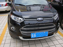 Chromed ABS Plastic Centre Grill Grille Trim Cover For Ford EcoSport 2013 Up