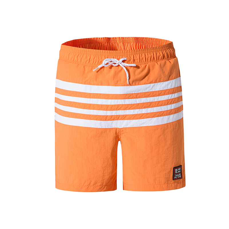 2019 New Summer striped men's beach   shorts   outdoor sports surf   board     shorts   swimming   shorts   for men Bermudas Masculina