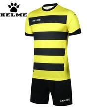 KELME 2016 New Men Soccer Jerseys Suit Uniform Football Training Set Custom Striped Football Jersey Maillot De Foot Tracksuit 49