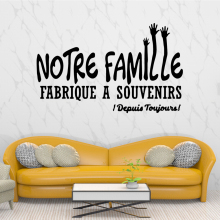 Modern French text Home Decor Wall Stickers Pvc Decals Rooms Decoration