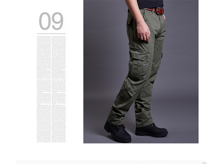 Icpans Winter Tactical Black Cargo Pants Men Loose Fit Military Style Side Pockets Army Black Denim Casual Men Pants Size 40 42 3