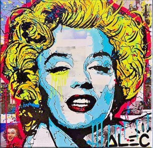 100% fait à la main Alec monopole Dilon garçon peinture à l'huile sur toile art urbain Marylin Monroe