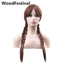 цена на princess anime wigs for woman brown ponytail wig blonde long double ponytail wig synthetic hair wigs heat resistant WoodFestival