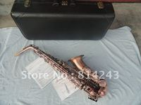 Wholesale Be Sure To Watch Very Beautiful Red Archaize Copper Alto Saxophone