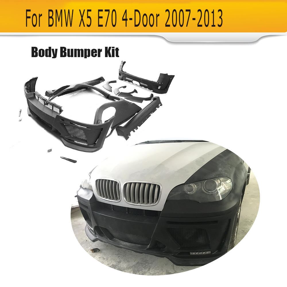 car body kits auto bumper body kit for BMW X5 Standard 07-17 E70 4-Door 2007-2013 HM Style / F15 2014-2017 M Style FRP Black m style табуретcarp