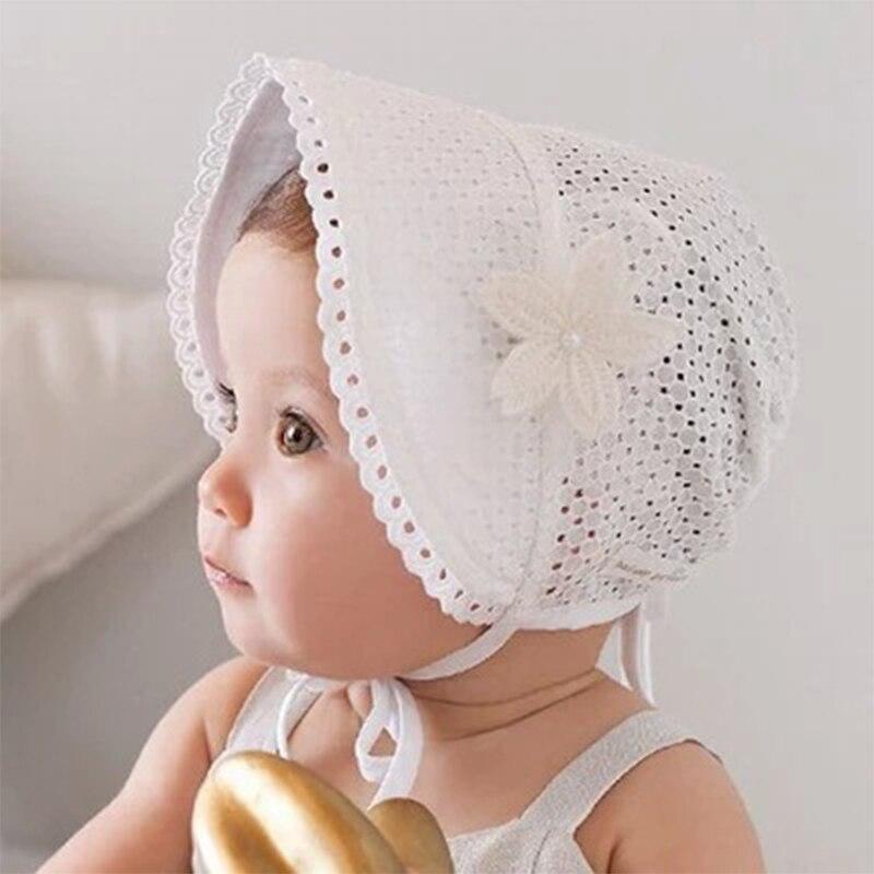 Girl Newborn Baby Toddler Cotton Pink bonnet Beanie Princess Soft Cap Sun Hat LT