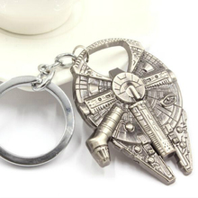2016 Hot Sales Cool Star Wars Theme Millennium Falcon Ship Barkey Metal Alloy Bottle Opener Keychain Key Ring 2 In 1 Bar Tools
