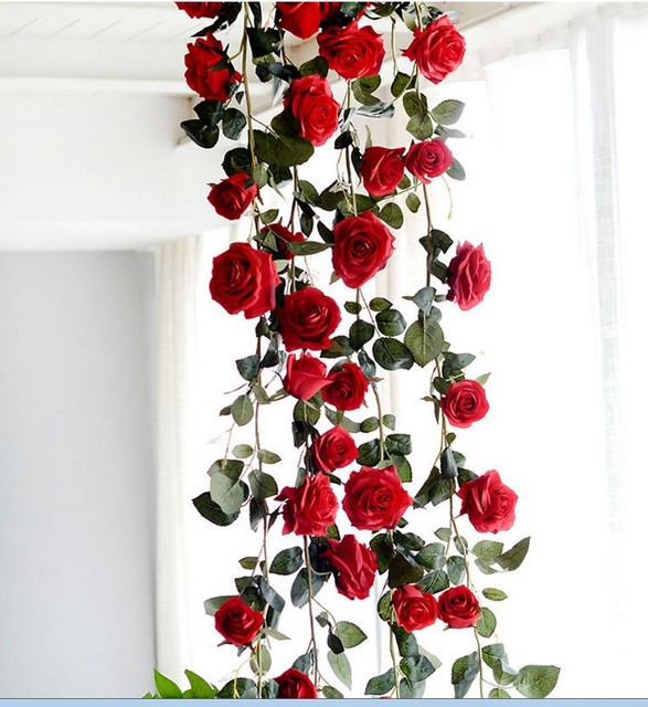 10pcs 3 color high end 18 meters australia rose vines rattan 10pcs 3 color high end 18 meters australia rose vines rattan household adornment flowers wedding junglespirit Image collections