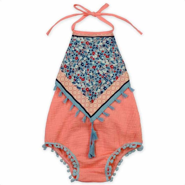b84e20a2f1de New Girls Classical Tassels Rompers Halter Princess Baby Toddler Girls  Summer Vintage Cotton Clothing