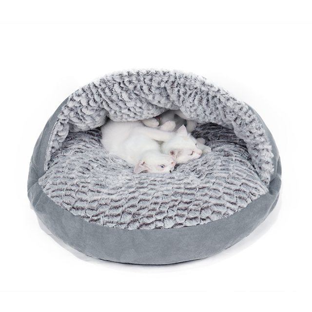 Dog Cave Bed Soft Fleece For Small Medium Dogs