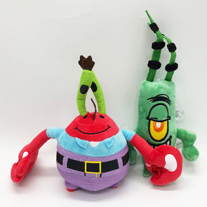 Image 3 - 6 Styles Cartoon Plush SpongeBob Patrick Star Squidward Tentacles Eugene Sheldon Gary Dolls Stuffed Toys Kids Girls Gifts