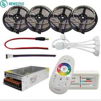 Светодиодная лента newstyle 5050 RGB RGBW светодиодный гибкая лента, полоска + RF 2,4G пульт дистанционного управления + 12 V адаптер питания