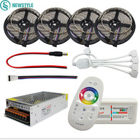 newstyle LED Strip 5050 RGB RGBW Led Flexible Strip Tape+RF 2.4G Remote Controller +12V Power adapter Kit