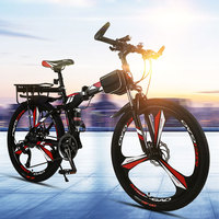 Mountain Bike Folding 26 Inches 21 24 27 Speed Double Shock Disc Brakes Adult Male and Women Students Bicycle