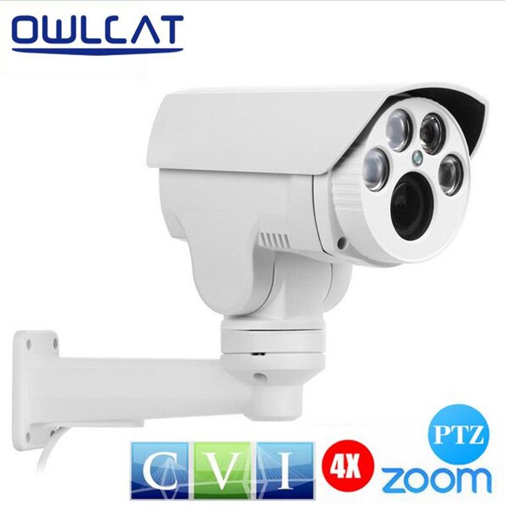 OwlCat HDCVI CCTV Camera Bullet Outdoor Waterproof HD 1080P CVI MINI PTZ Camera Auto Pan Tilt 4X Zoom Lens 2.8-12mm IR Day Night hot sell full hd 1080p 2mp outdoor bullet 4x optical zoom 2 8 12mm lens mini ptz bullet hdcvi camera 4pcs leds ir 50m
